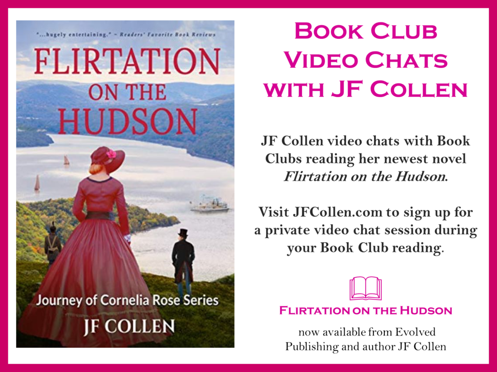 Author JF Collen video chats with book clubs reading her book. If your book club is interested in a private speakerphone or video chat discussion just use the form below to reach out
